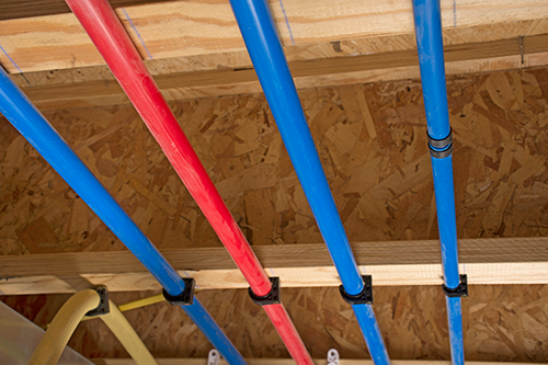 PEX Repiping in Attic