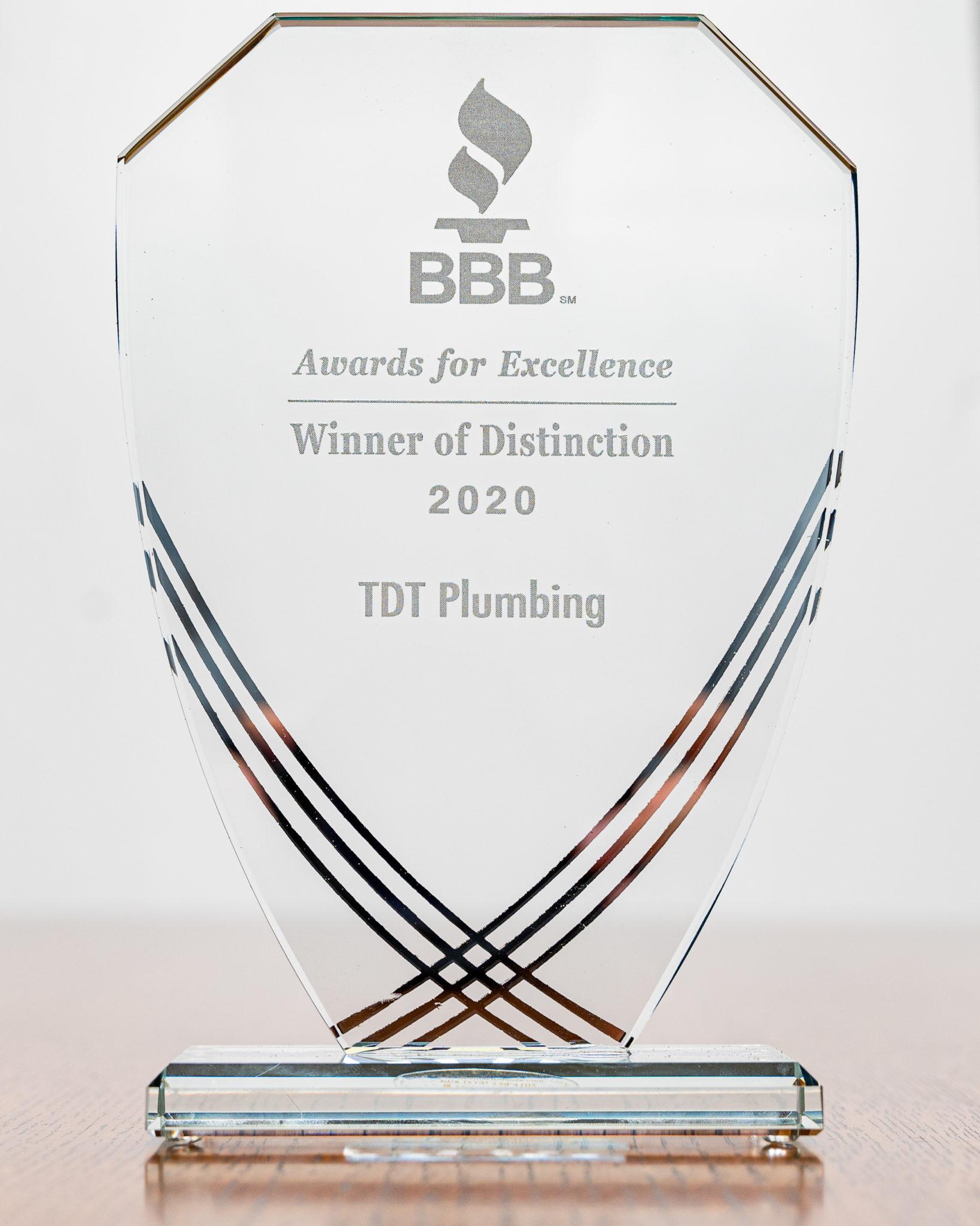 BBB Award of Distinction 2020 - 2